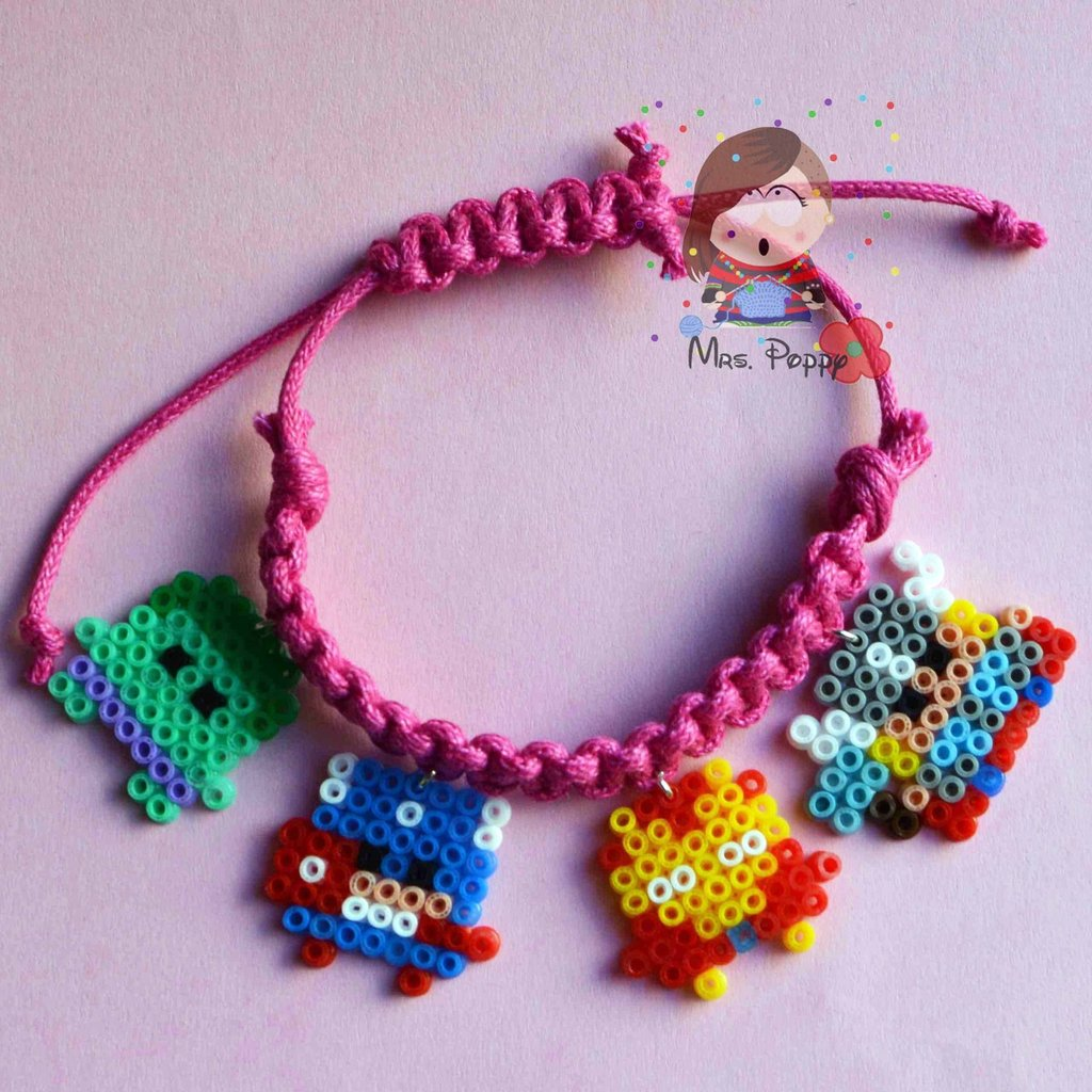 "bracciale mini hama beads ""The avengers"""