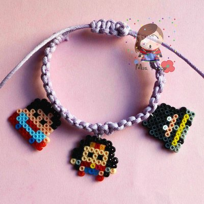 "bracciale mini hama beads ""Super Eroi"""