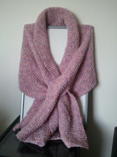 Sciarpa melange in lana merino