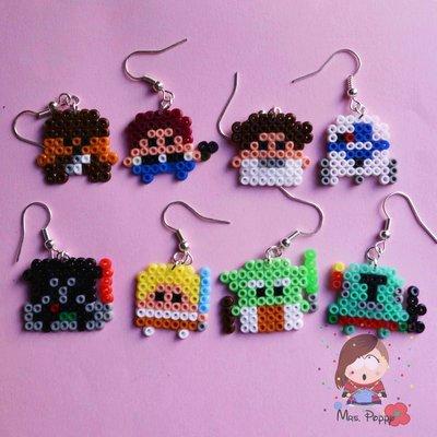 """Orecchini mini Hama Beads """"Star Wars"""""""