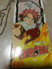 Collana raffigurante il simbolo del manga  Fairy Tail Smaltato rosso
