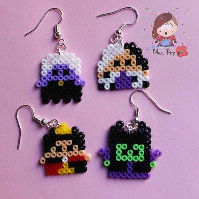 """Orecchini mini Hama Beads """"Cattive"""""""