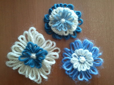 3 Fiori di lana