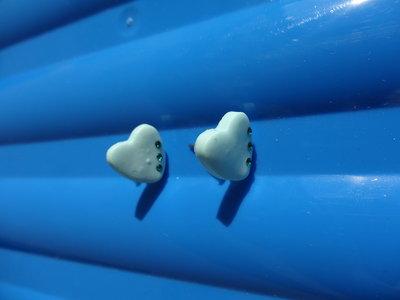 Orecchini cuore in fimo con cristalli swarovski