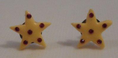 Orecchini stella in fimo con cristalli swarovski