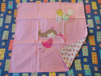 Coperta carrozzina in cotone rosa