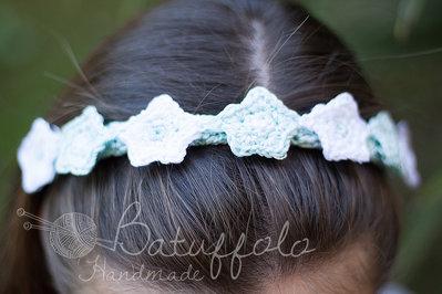 Accessorio per capelli - fascetta elastica capelli ad uncinetto