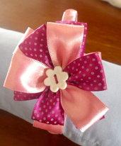 Cerchietti per Capelli Fiore Rosa con pois