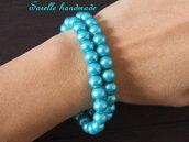 Braccialetto di perle di colore turchese