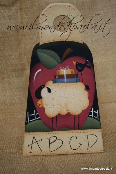 """Campana in legno """"ABC"""" country"""