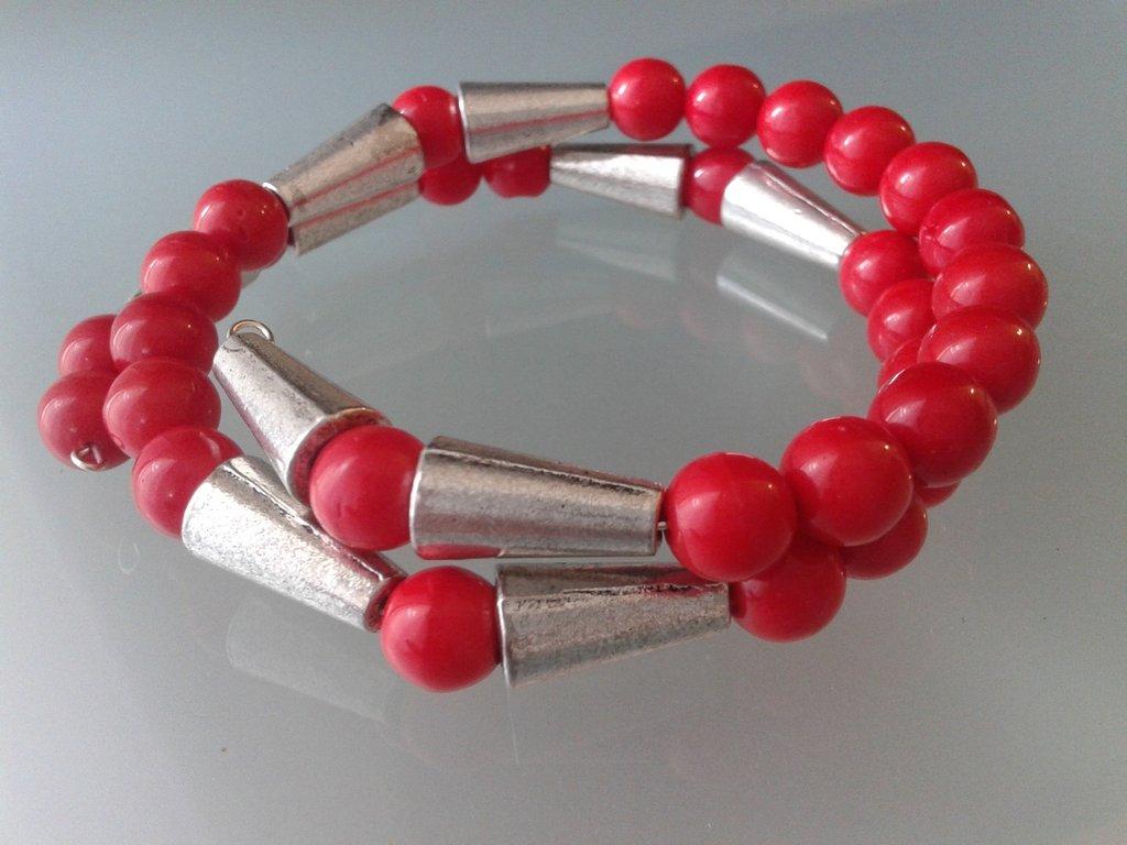 bracciale armonico giada rossa