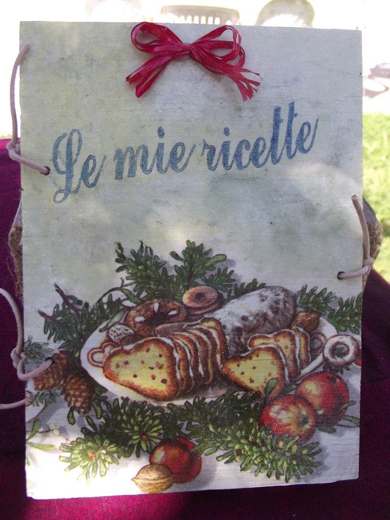 Quaderno in legno mod. Ricettario natalizio