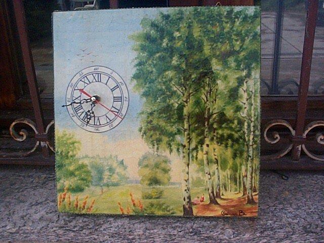 Orologio da parete in legno