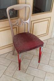 sedia classica rivisitata in stile glamor