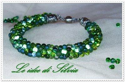 Bracciale con cristallo verde