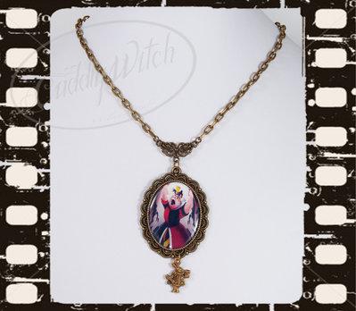 EDIZIONE LIMITATA! Collana Malefica, cammeo fotografico 30x40, bronzo ottone - Maleficent, regine cattive, goth lolita pin up