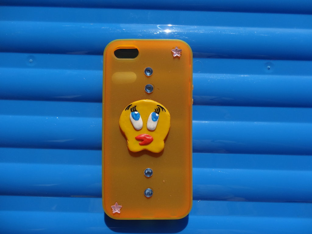 Cover Iphone 5 decorata in fimo