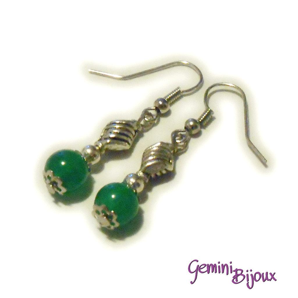 Orecchini perle di Giada