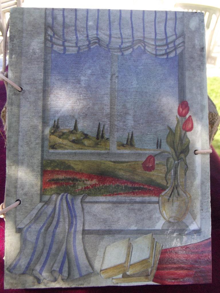 Quaderno in legno mod. tulipani