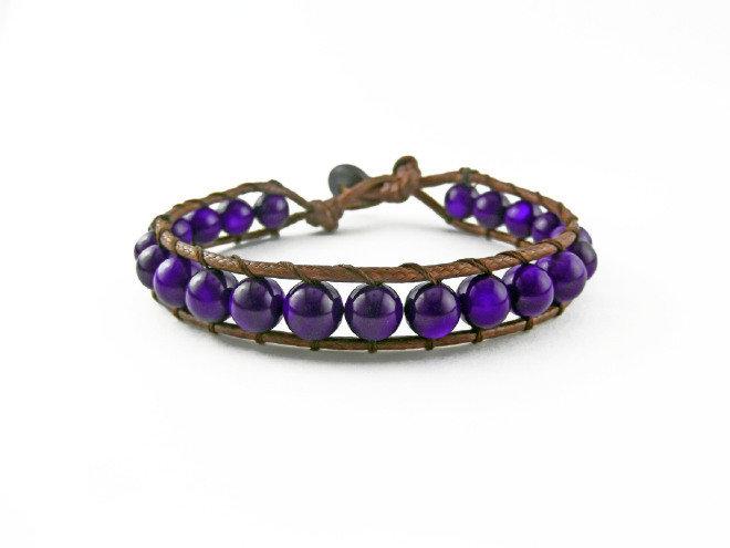Braccialetto fatto a mano SIRIO - Purple