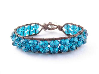 Braccialetto fatto a mano SIRIO - Blue Glass