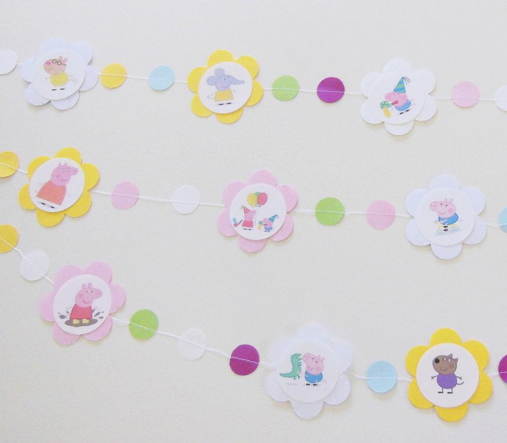 Ghirlanda di carta con personaggi dei cartoni animati: la decorazione per la festa di compleanno della vostra bambina!