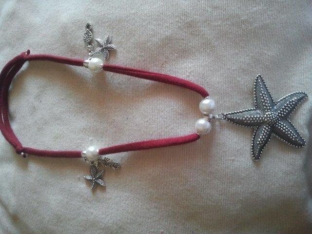 Collana Mare,perle, stelle e cavallucci marini