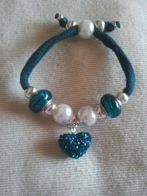 Braccialetto Perle e Cuore
