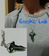 Collana Spilla di Lothlorien Signore degli Anelli LOTR