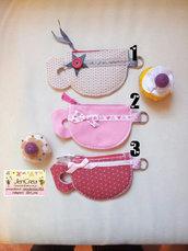 1 Porta chiavi e monete tazza da tea