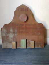 scultura/bassorilievo chiesa in legno