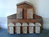 scultura,bassorilievo chiesa in legno