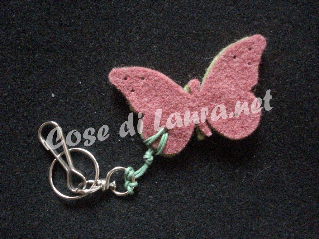 Portachiavi farfalla
