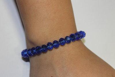 Bracciale con swarovski blu