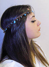 Headband jewel TURCHESE accessorio capelli