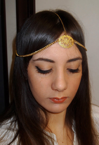 Headband jewel ORO accessorio capelli