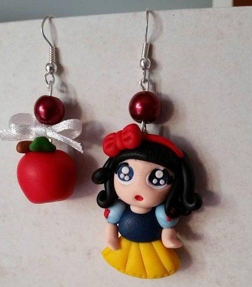 "orecchini pendenti ""Biancaneve"""