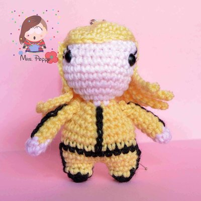 Portachiavi uncinetto Amigurumi Kill Bill
