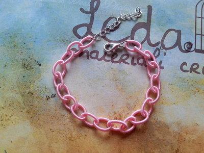 Base bracciale catena di seta rosa chiaro
