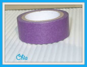 1 washi tape viola scuro 5 mt