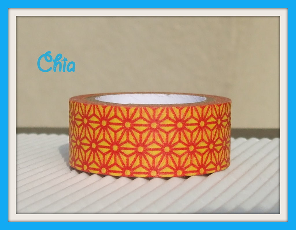 1 washi tape giallo e rosso 5 mt
