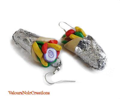orecchini kebab in fimo