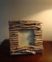 """PORTAFOTO """"RIGO'"""" in legni di mare, bois flottè, driftwood"""