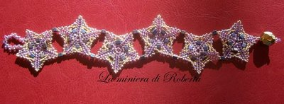 bracciale stelle peyote