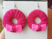 orecchini fucsia e rosa