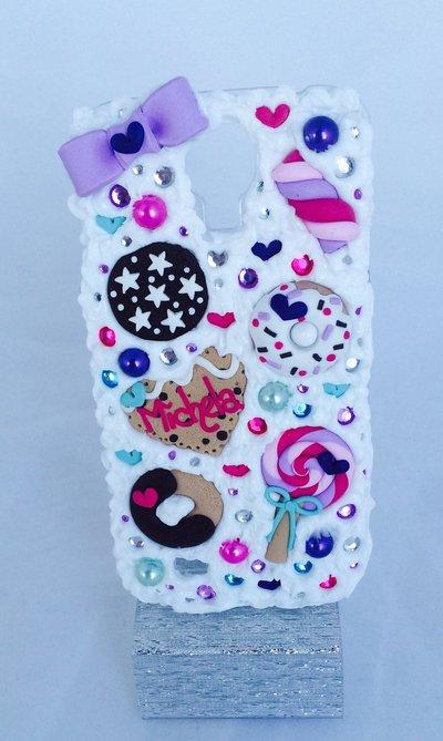 Bellissima cover per galaxy s4 realizzata a mano con fimo dolcini biscotti cuore ragazza fashion