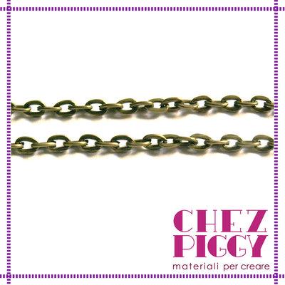 1 mt - catena bronzo sottile
