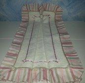 Tappeto per il bagno di spugna con bordo di cotone