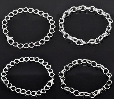 30 basi bracciali tono argento 19 cm in prenotazione