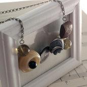 C19.14 - Collana con bottoni vintage e antichi - Linea Retro